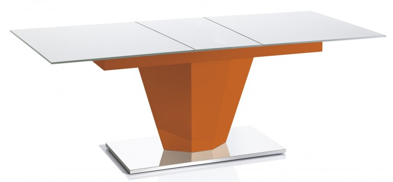 Table extensible orange