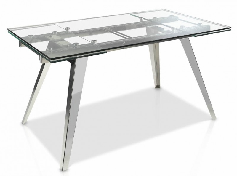 Table extensible argent
