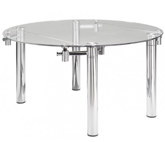 Table extensible ovale