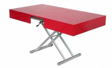 Table extensible rouge