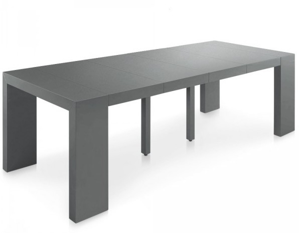 Table de salle manger - Table console extensible pied central ...