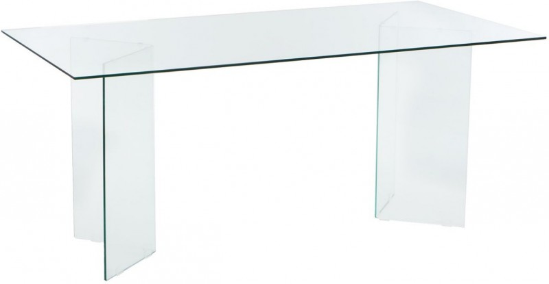 Table rectangulaire en verre