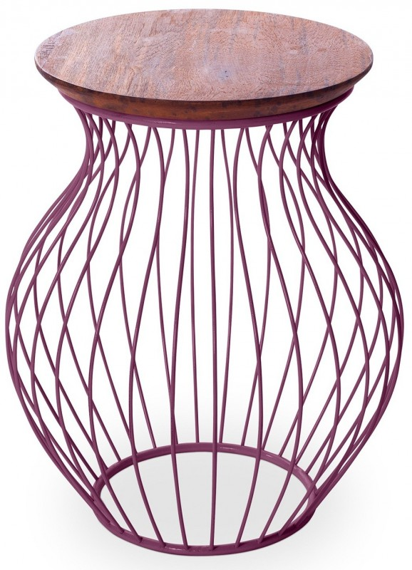 Table d'appoint violet