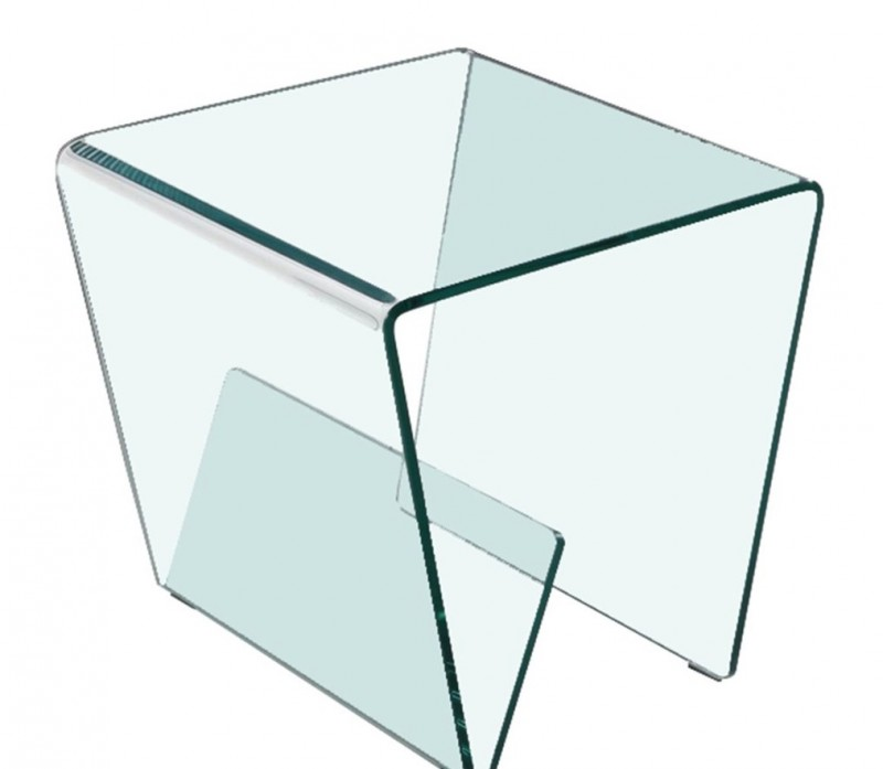 Table d'appoint transparent