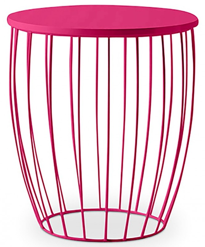 Table d'appoint fuchsia