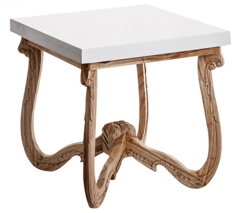 Table d'appoint bicolore