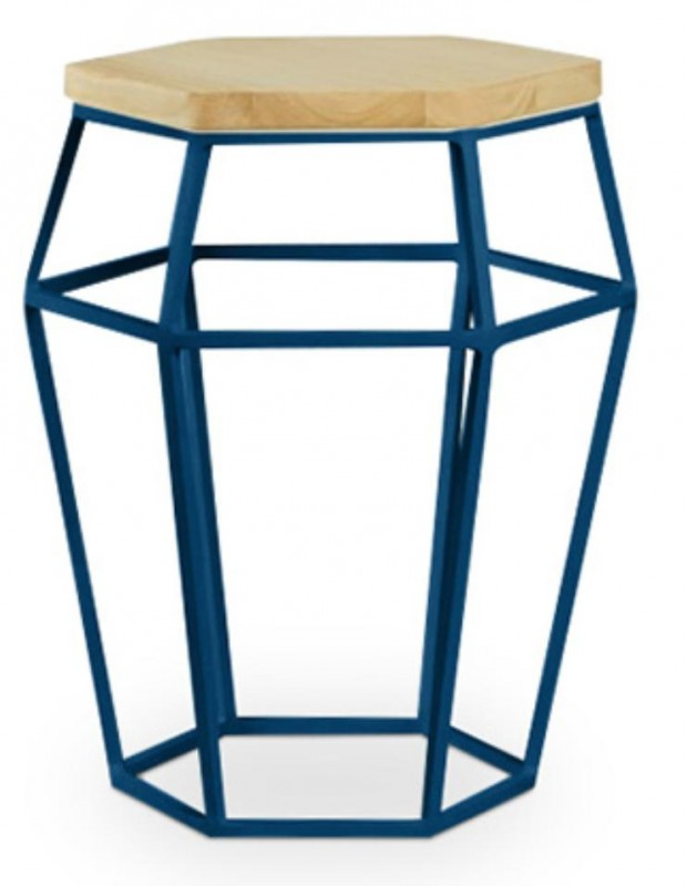 Table d'appoint bleu