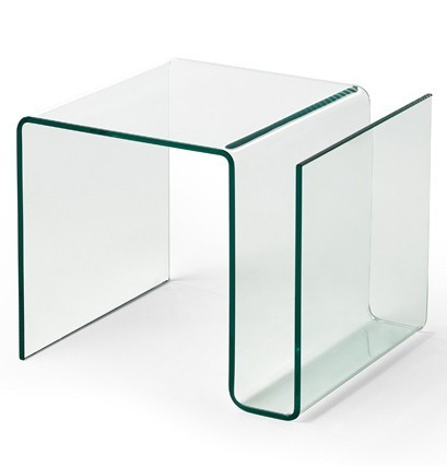 Table d'appoint verre