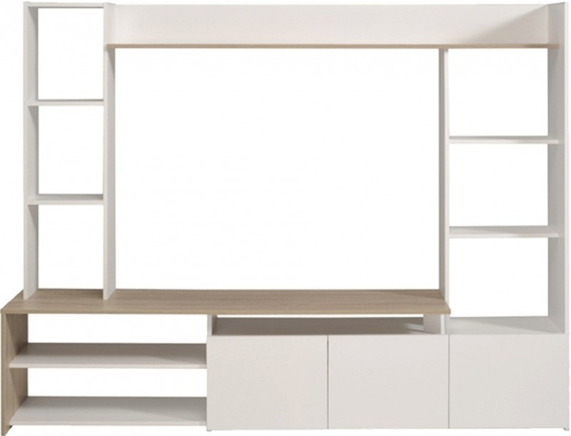 Meuble tv for Tv 140 cm conforama