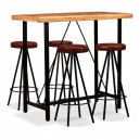 Ensemble table de bar et tabourets industriel