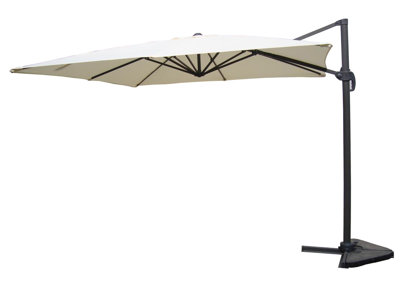 parasol d port rotatif ecru alu amalia. Black Bedroom Furniture Sets. Home Design Ideas