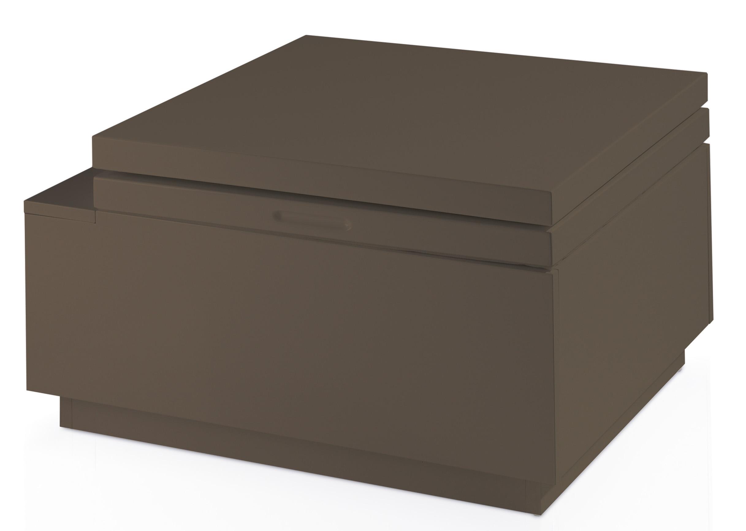 Table basse relevable laqu e marron kuba - Table basse marron ...