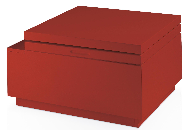 Table basse relevable laqu e rouge kuba - Table basse relevable rouge ...