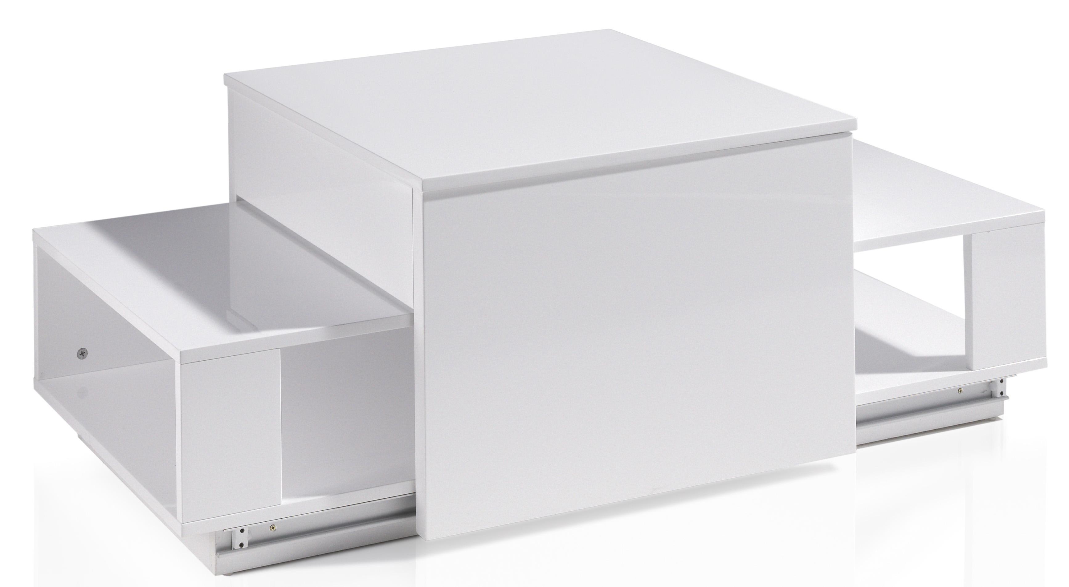 table basse relevable laqu e blanc optima. Black Bedroom Furniture Sets. Home Design Ideas