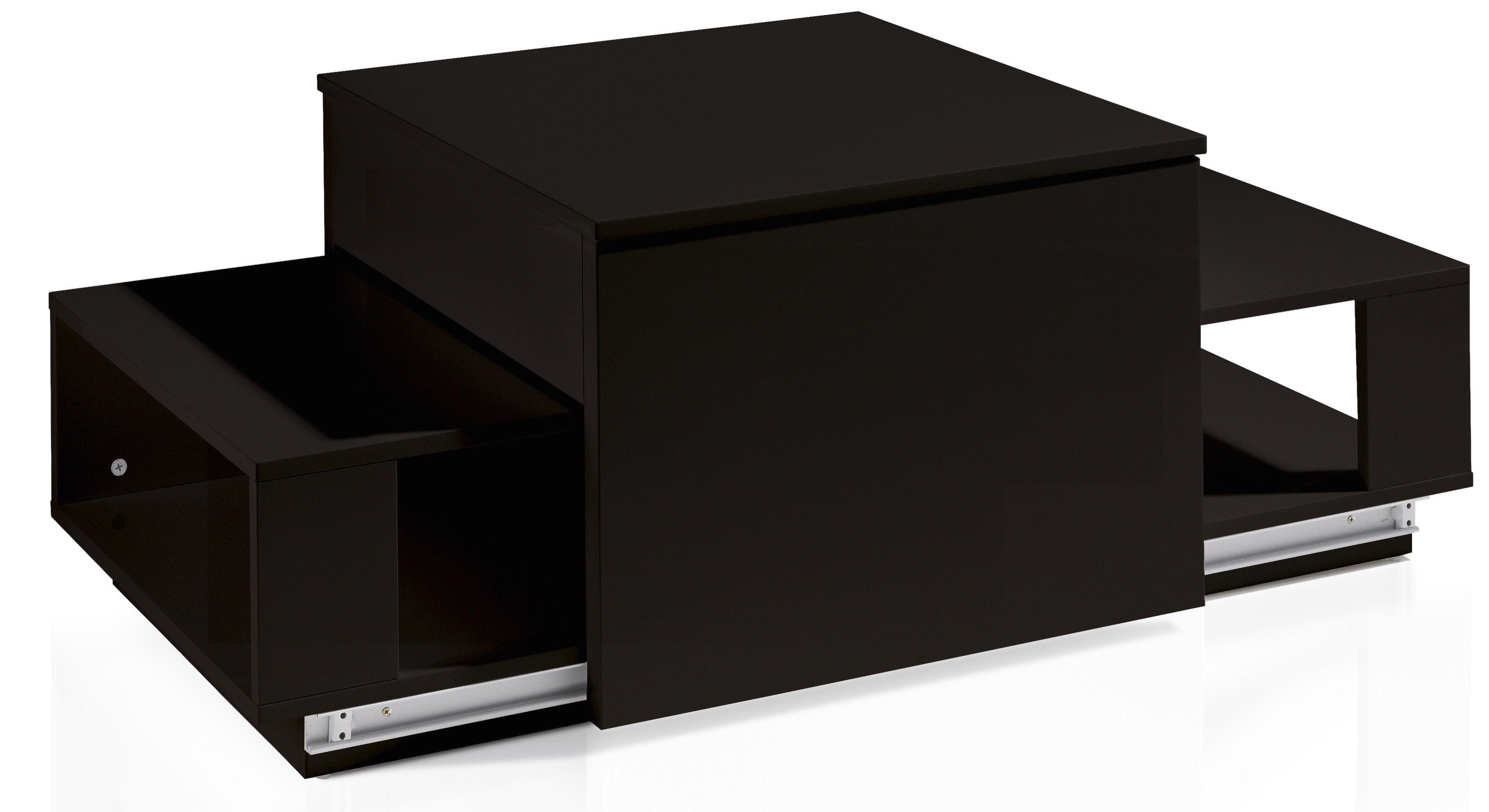 table basse relevable laquée noir optima | lestendances.fr
