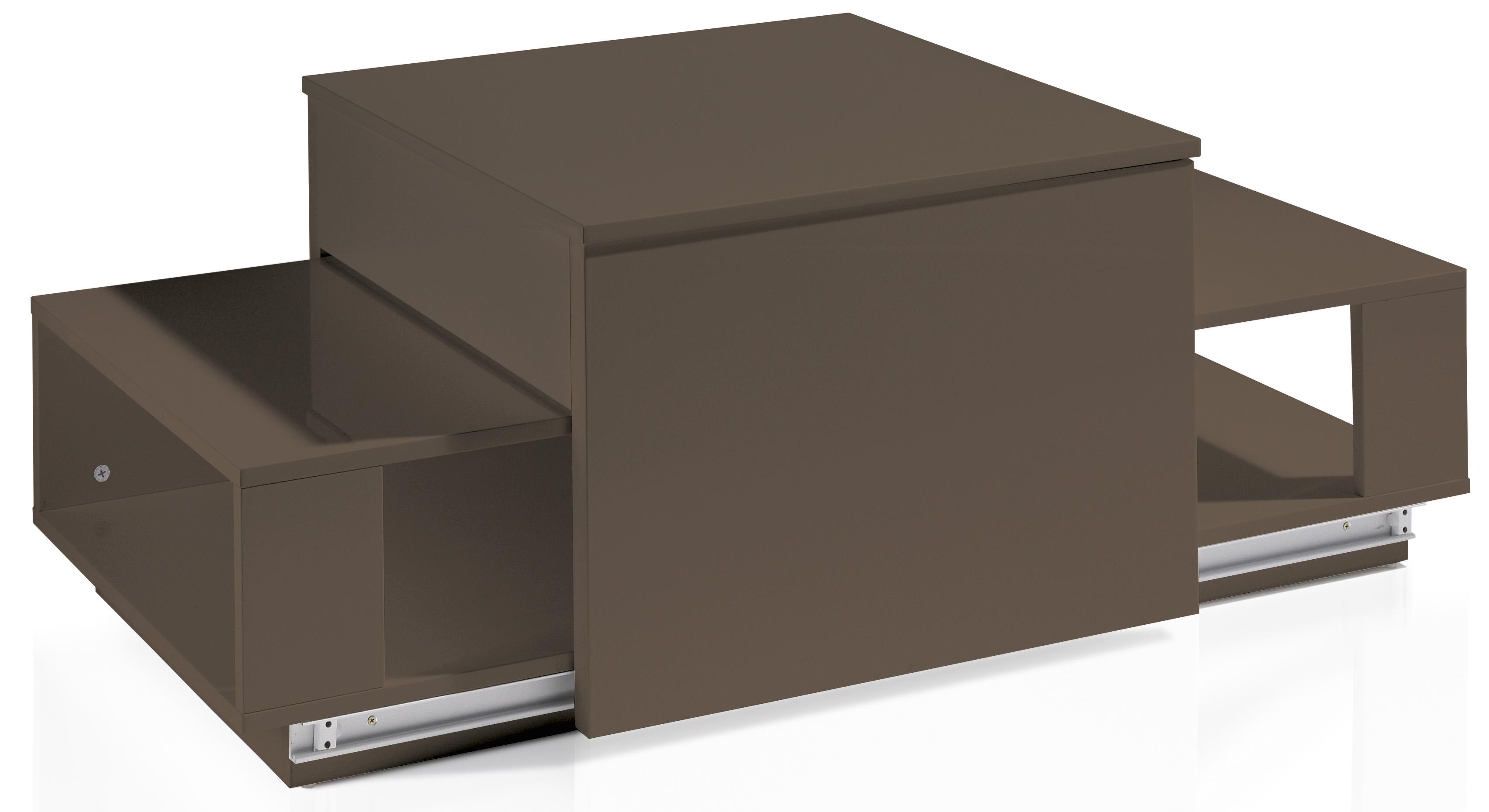 table basse relevable laqu e marron optima. Black Bedroom Furniture Sets. Home Design Ideas
