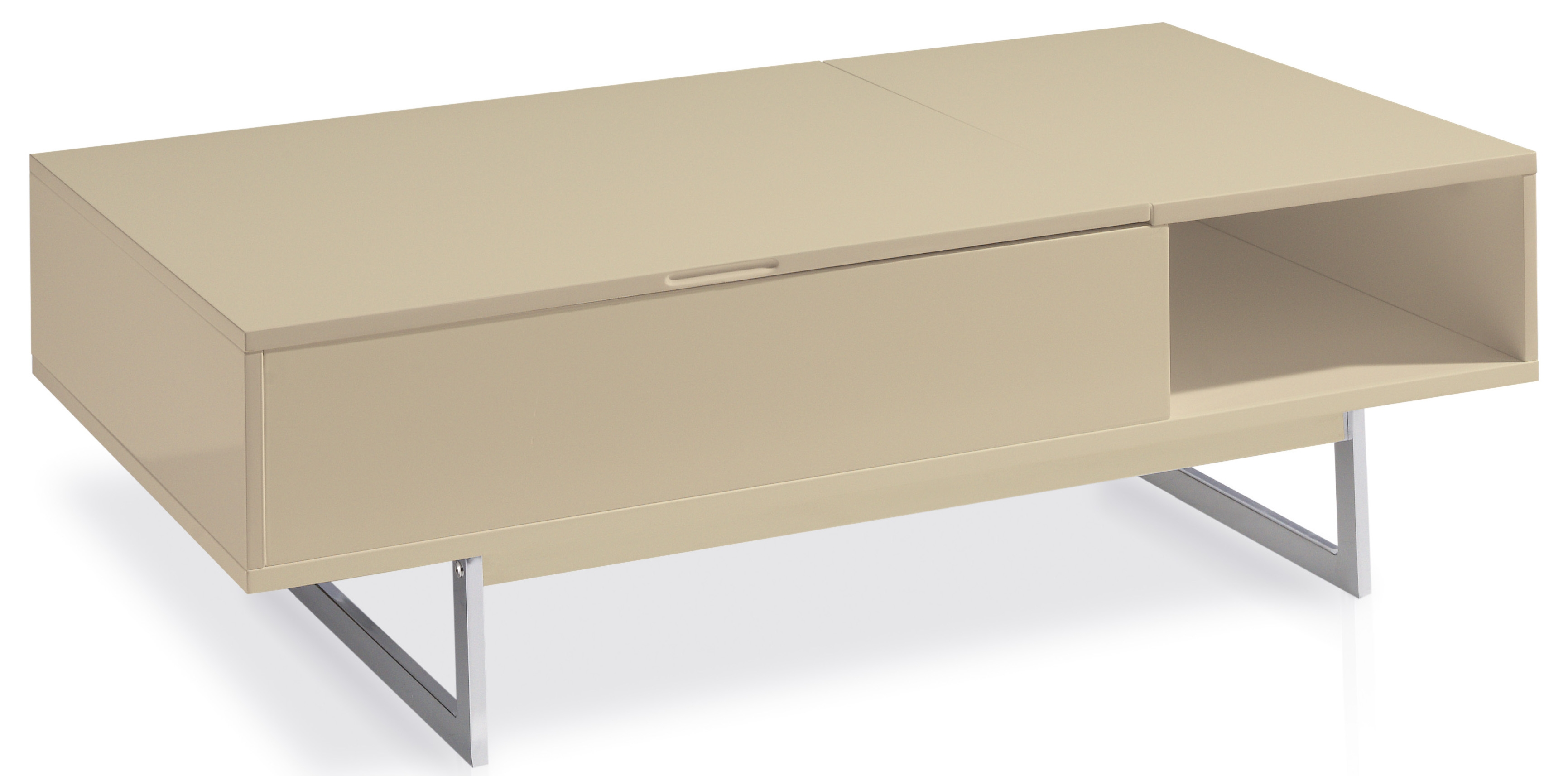 Table basse moderne beige - Table basse laquee beige ...