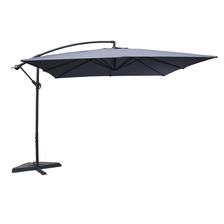 parasol gris d port carr pyrgos. Black Bedroom Furniture Sets. Home Design Ideas