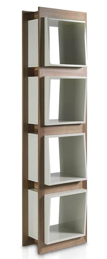 etag re contemporaine bois noyer et laqu koza couleur blanc. Black Bedroom Furniture Sets. Home Design Ideas