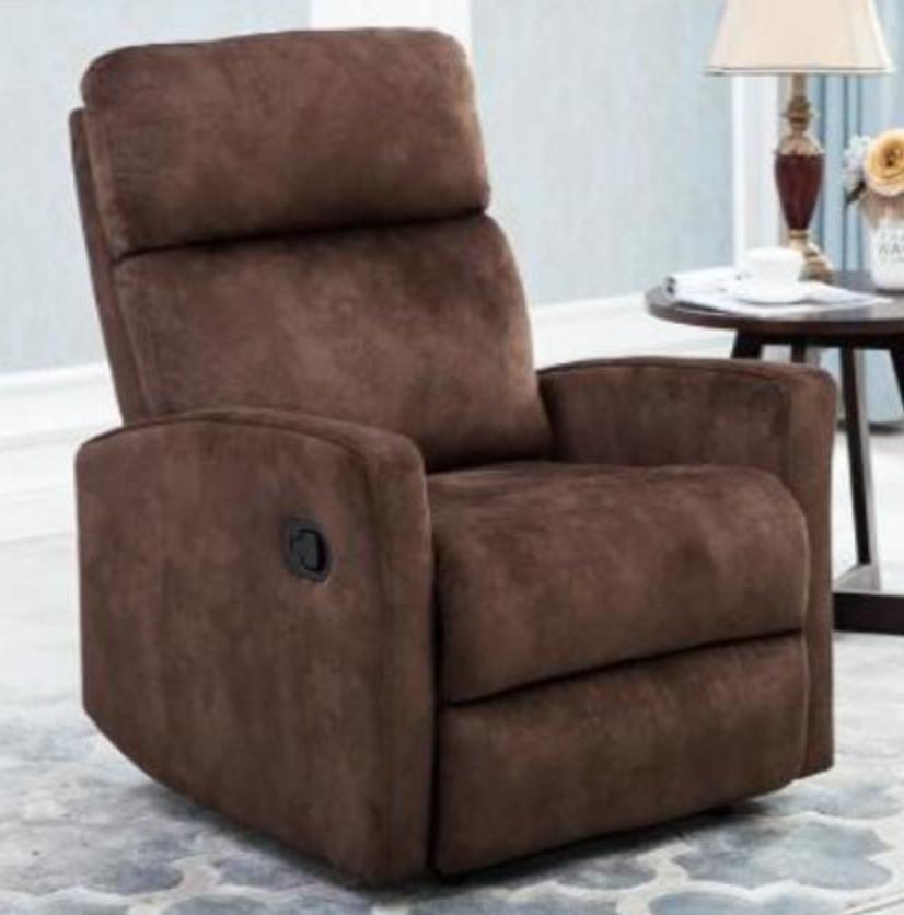 fauteuil de relaxation manuel microfibre marron oka. Black Bedroom Furniture Sets. Home Design Ideas
