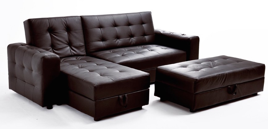 canap d 39 angle convertible marron simili kusta. Black Bedroom Furniture Sets. Home Design Ideas