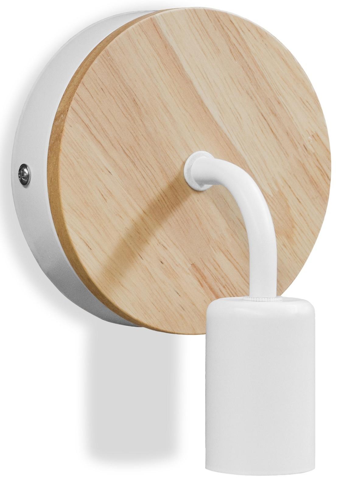 applique murale scandinave bois et m tal blanc bruno. Black Bedroom Furniture Sets. Home Design Ideas