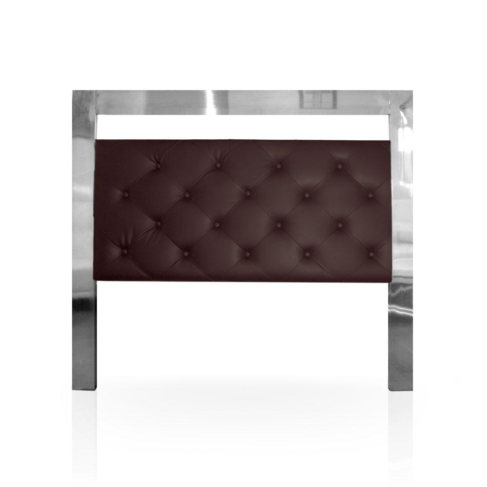 T te de lit anton couleur marron longueur 140 cm - Tete de lit 120 cm ...