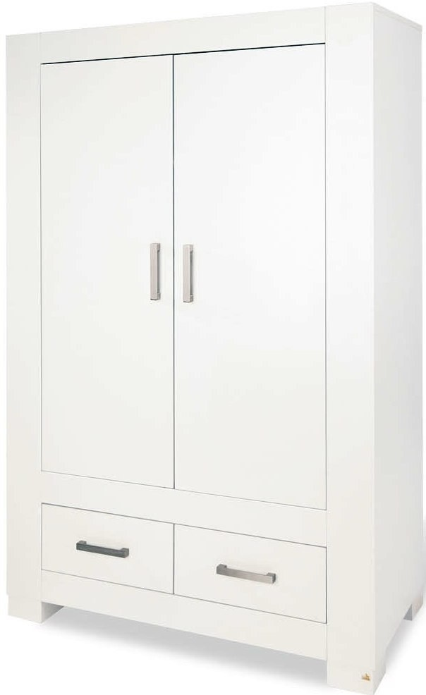 armoire 2 portes 2 tiroirs blanche ice. Black Bedroom Furniture Sets. Home Design Ideas