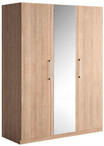 armoire 2 portes battantes ch ne clair 1 porte miroir little. Black Bedroom Furniture Sets. Home Design Ideas