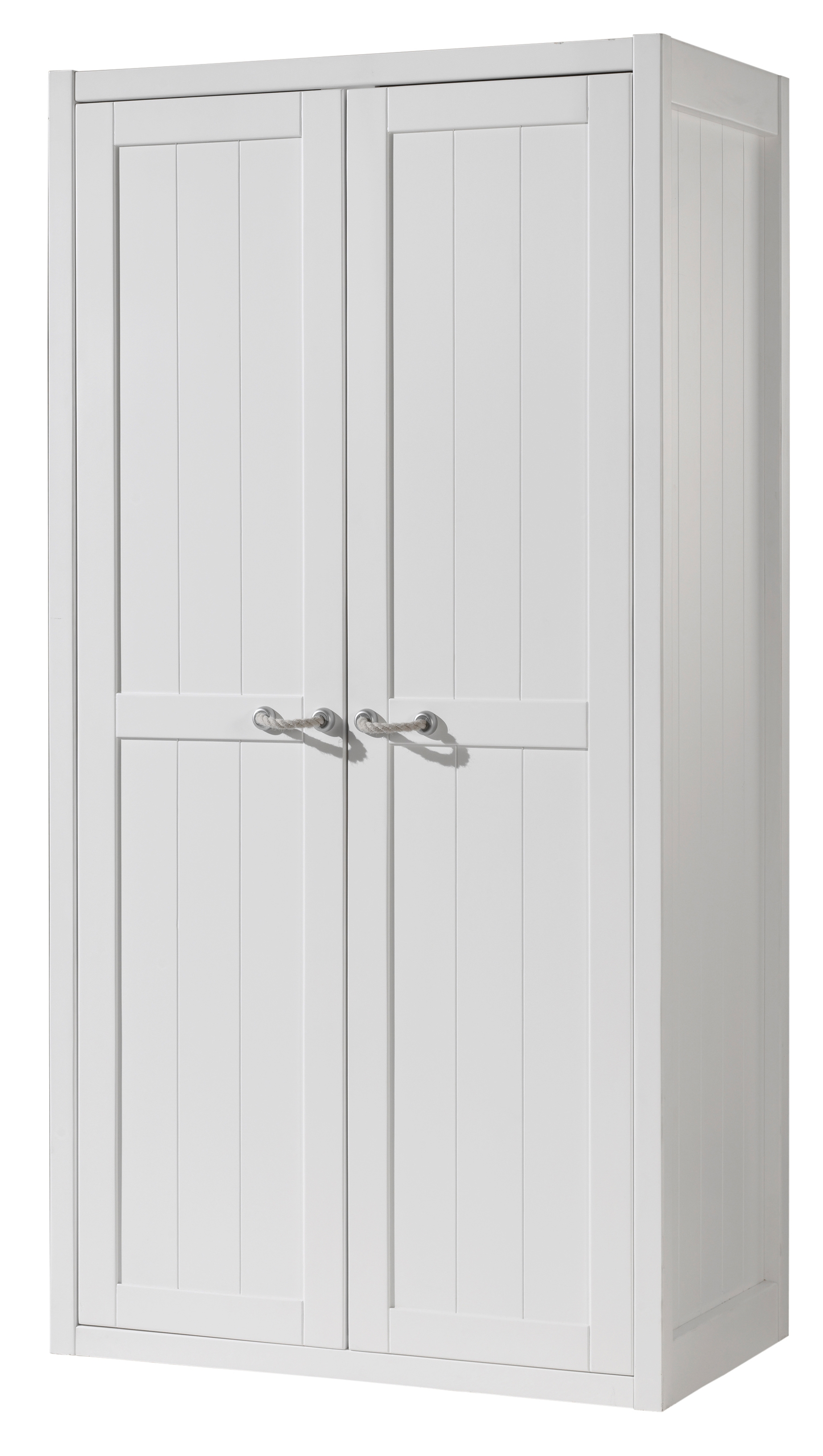armoire 2 portes bois laqu blanc marin. Black Bedroom Furniture Sets. Home Design Ideas