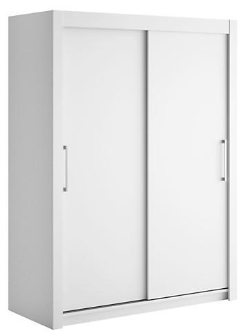 armoire 2 portes coulissantes blanc laqu mat little 120. Black Bedroom Furniture Sets. Home Design Ideas