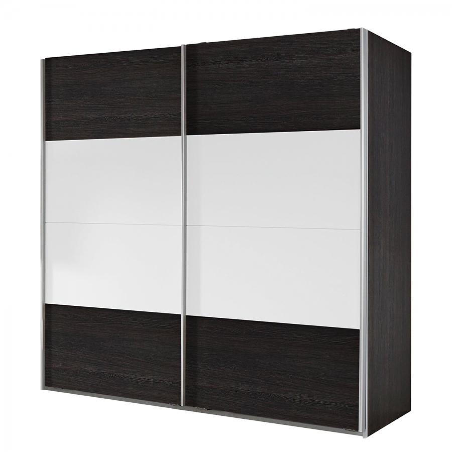 armoire portes coulissantes weng shiraz et blanc baltas longueur 181 cm. Black Bedroom Furniture Sets. Home Design Ideas