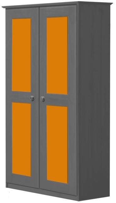 Armoire Chambre Orange : Armoire portes gris et orange maximus lestendances