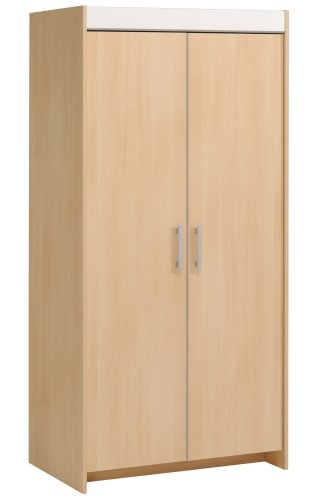 armoire 2 portes h tre clair et blanc snoop. Black Bedroom Furniture Sets. Home Design Ideas