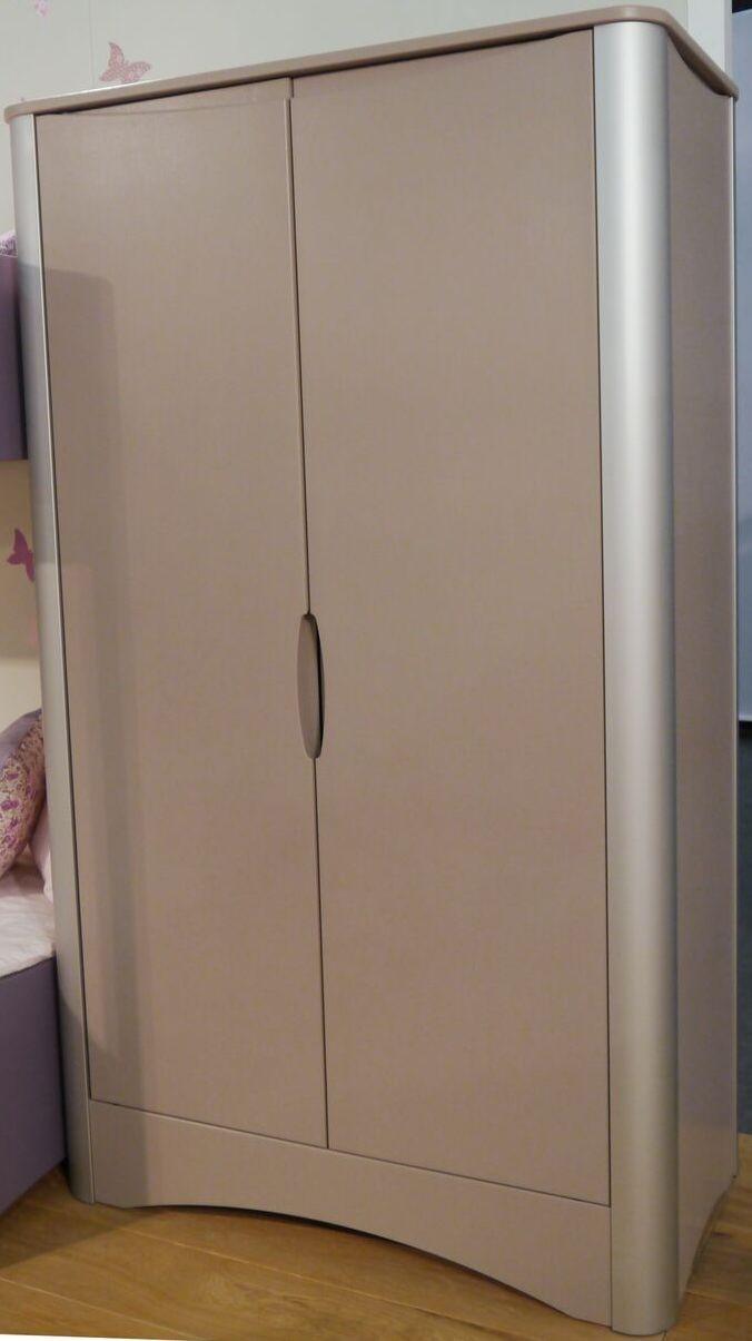 armoire 2 portes laqu e profile anodise taupe fusion. Black Bedroom Furniture Sets. Home Design Ideas