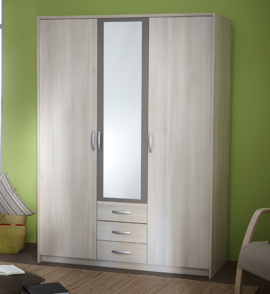 armoire 3 portes avec miroir alabama. Black Bedroom Furniture Sets. Home Design Ideas