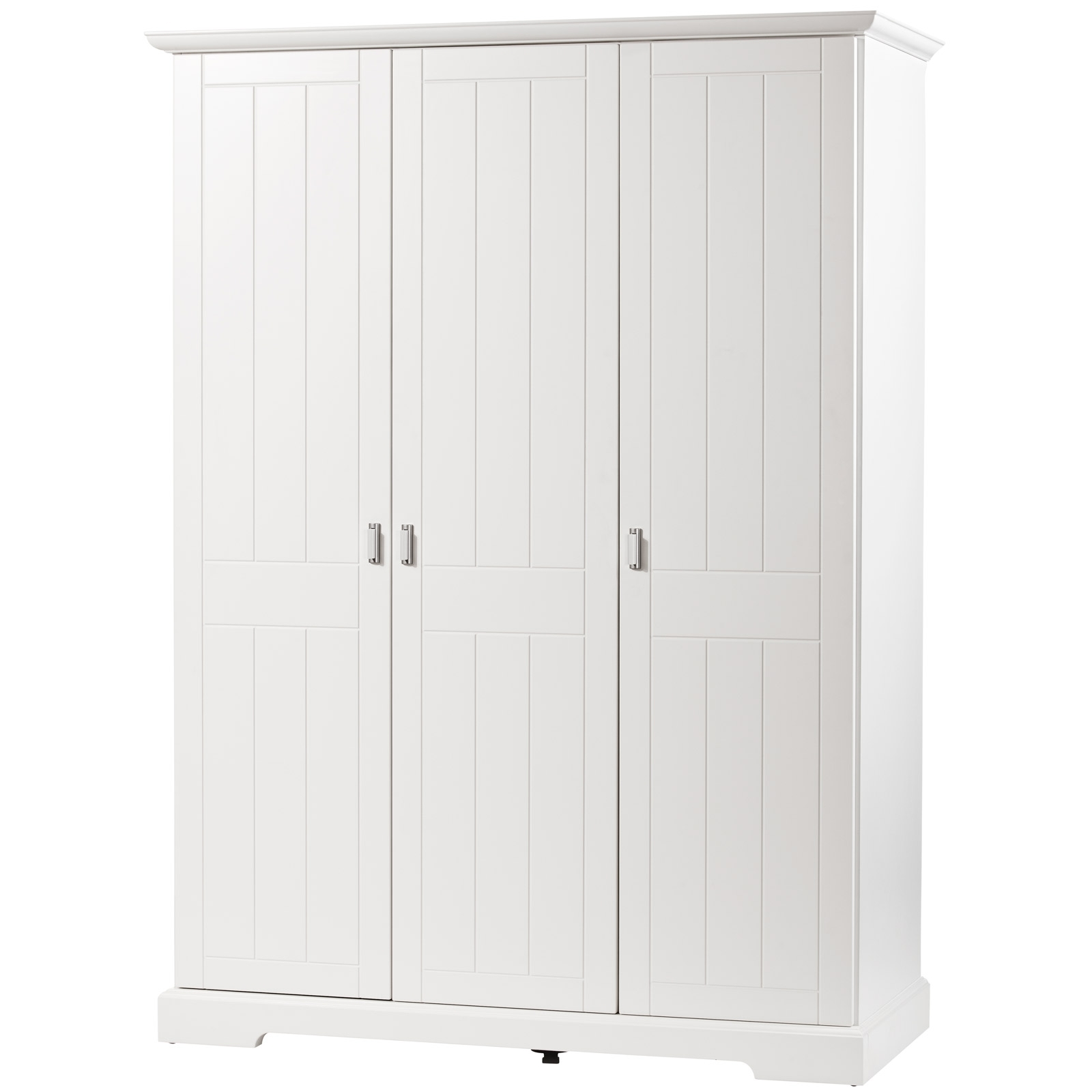 armoire 3 portes blanche cottage. Black Bedroom Furniture Sets. Home Design Ideas