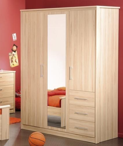 armoire 3 portes h tre kurt. Black Bedroom Furniture Sets. Home Design Ideas