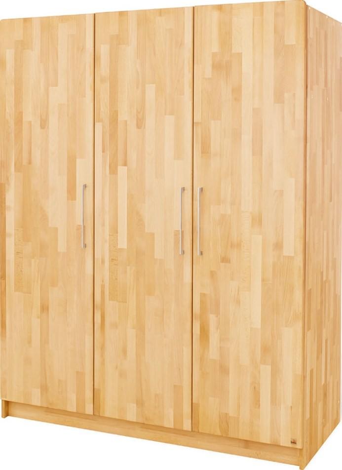 armoire 3 portes h tre massif naturel natura. Black Bedroom Furniture Sets. Home Design Ideas