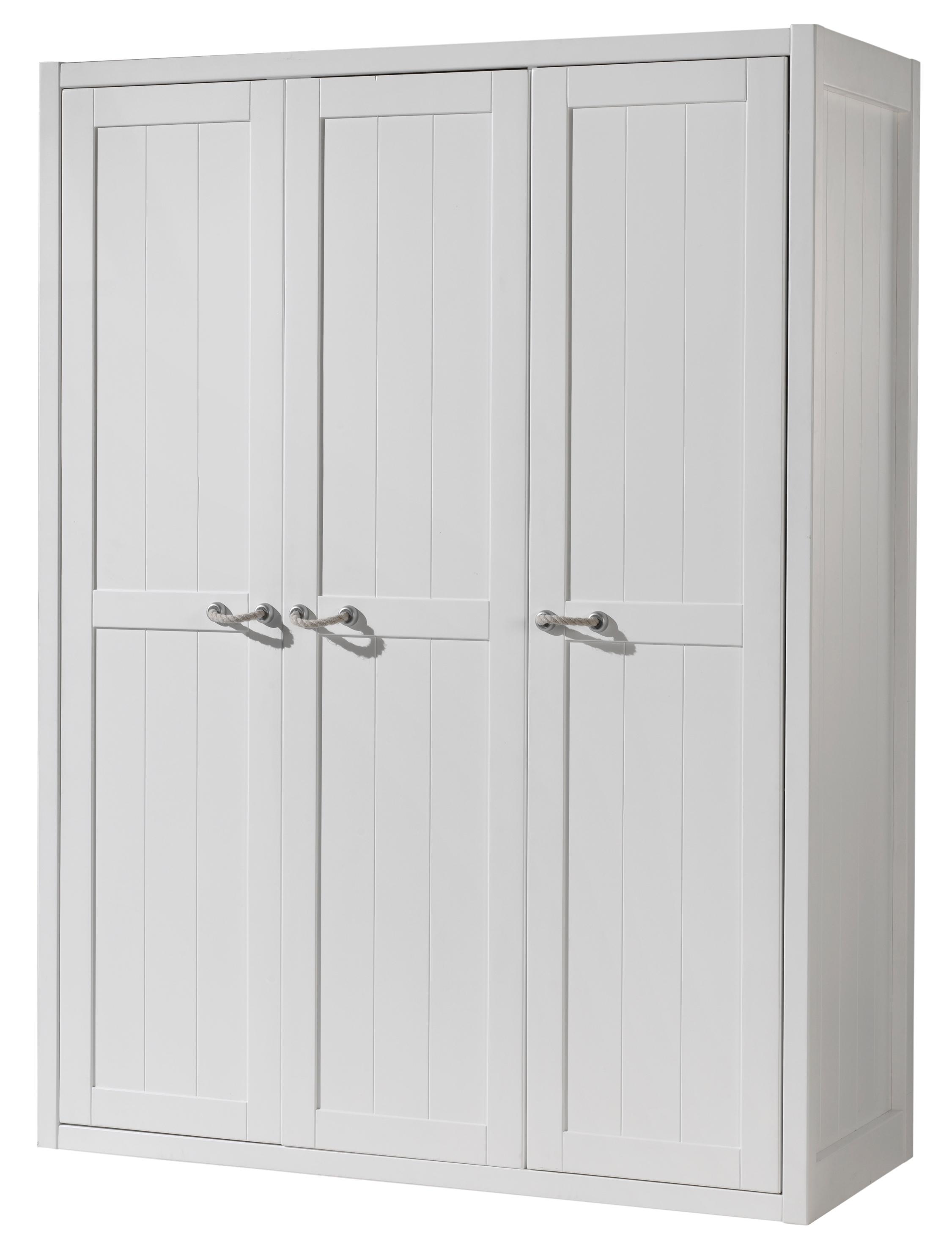 armoire 3 portes laqu e blanc marin. Black Bedroom Furniture Sets. Home Design Ideas