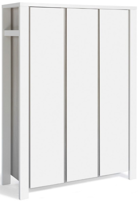 armoire 3 portes pin gris et blanc milano. Black Bedroom Furniture Sets. Home Design Ideas