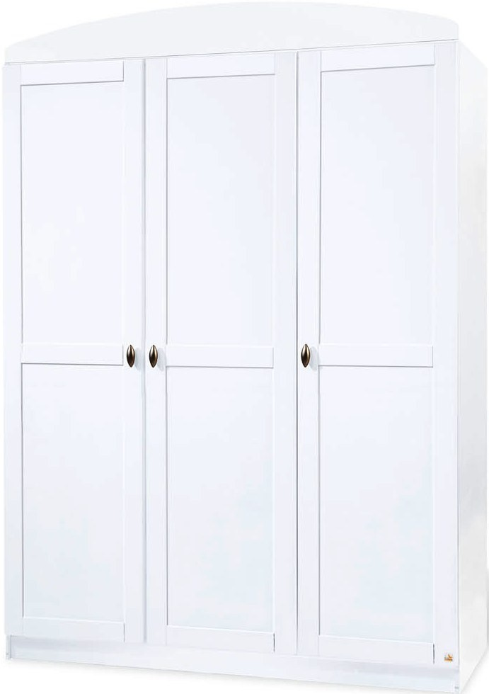 armoire 3 portes pin massif blanc laura. Black Bedroom Furniture Sets. Home Design Ideas