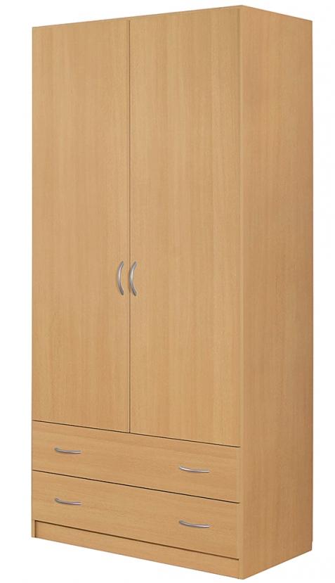 armoire 2 portes battantes 2 tiroirs h tre kadra 4. Black Bedroom Furniture Sets. Home Design Ideas