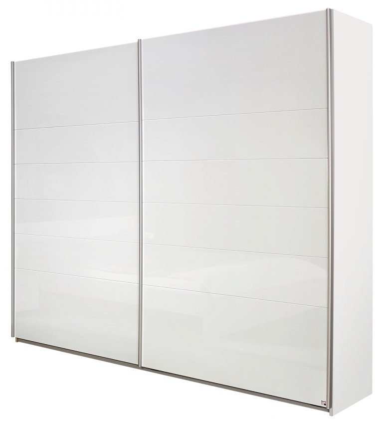 armoire blanche laqu e 2 portes coulissantes mona 226. Black Bedroom Furniture Sets. Home Design Ideas