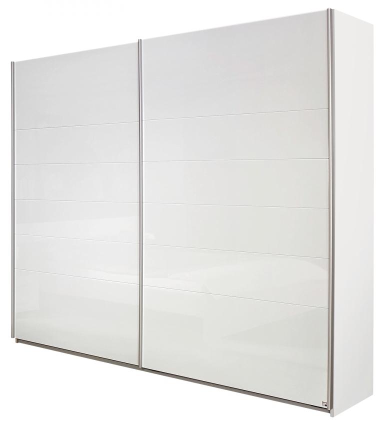 armoire blanche laqu e 2 portes coulissantes mona 181. Black Bedroom Furniture Sets. Home Design Ideas