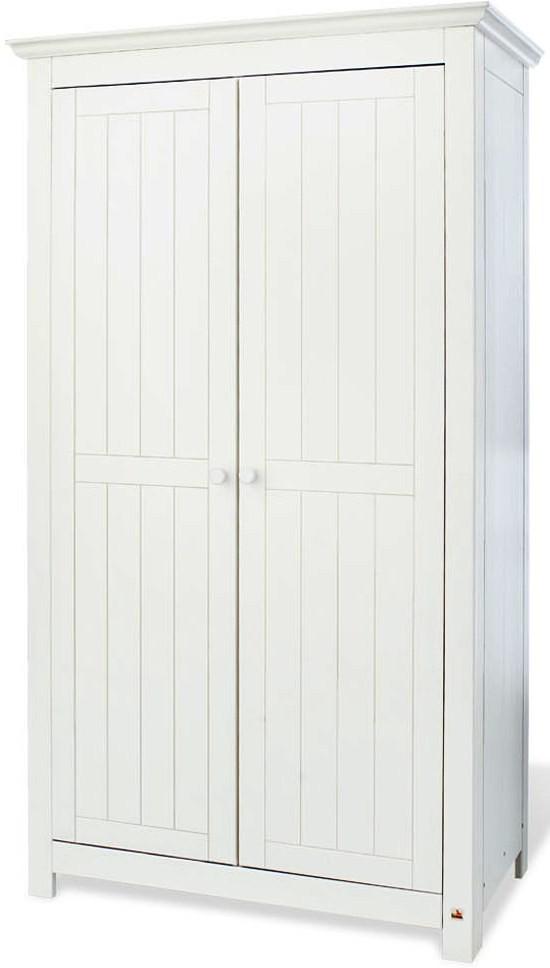 armoire b b 2 portes pin massif blanc nina. Black Bedroom Furniture Sets. Home Design Ideas