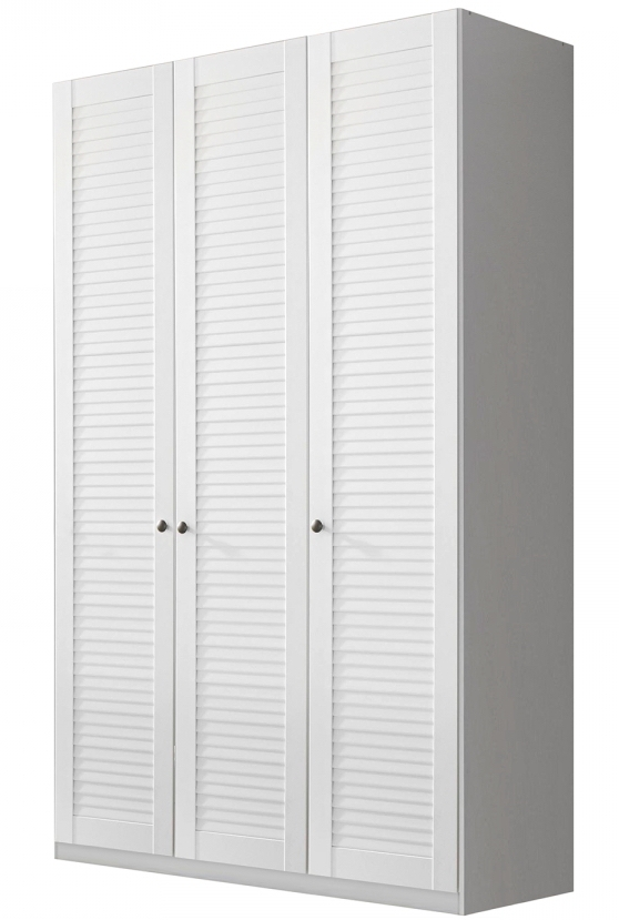 armoire blanche 3 portes aspect volet original agath. Black Bedroom Furniture Sets. Home Design Ideas