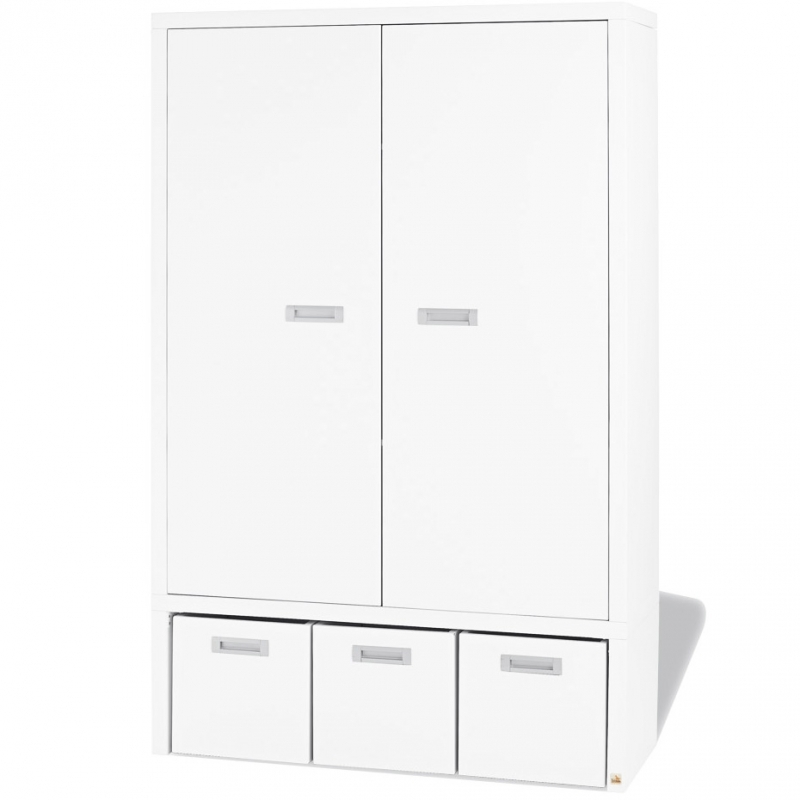 armoire blanche 2 portes enzo. Black Bedroom Furniture Sets. Home Design Ideas
