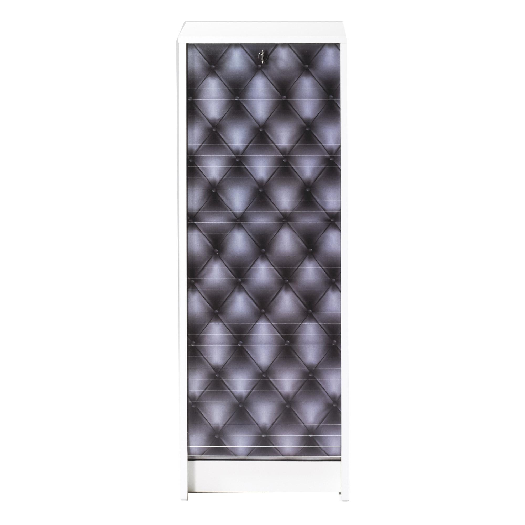 Armoire blanche de bureau rideau boost capiton for Armoire de bureau blanche