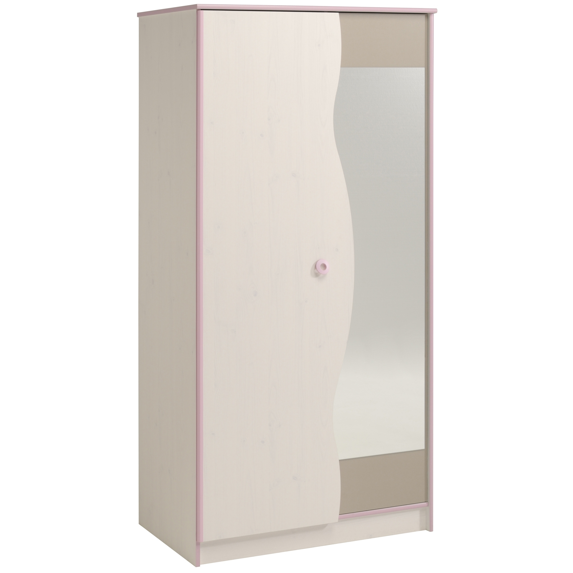armoire blanche et rose pastelle. Black Bedroom Furniture Sets. Home Design Ideas